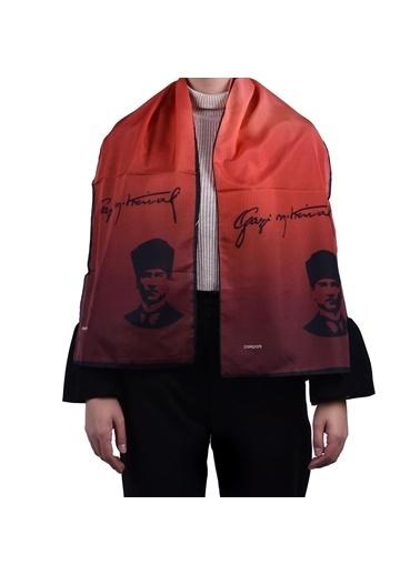 İpekpark  Atatürk Serisi Fular Kırmızı
